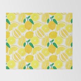 Lemon Harvest Throw Blanket