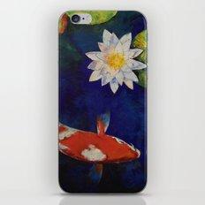 Kohaku Koi and Water Lily iPhone & iPod Skin