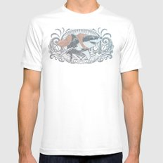 Fearless Creature: Whitey MEDIUM Mens Fitted Tee White