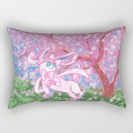 Sylveon and Cherry Blossom Tree Rectangular Pillow