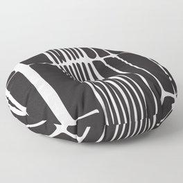 Black lines art, Lines print, Modern poster, Abstract art, Mid century modern, Minimalist print, Bla Floor Pillow