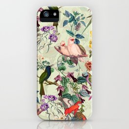 Floral and Birds VIII iPhone Case
