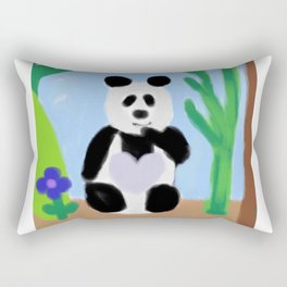 It's A Panda's World of Love 2 Rectangular Pillow