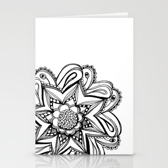 Zendala ornate Stationery Cards