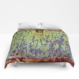 Cracked Vintage Paint Abstract Comforters