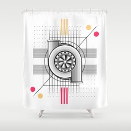 Turbo engine Shower Curtain
