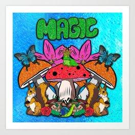 Magical Garden Creatures Art Print