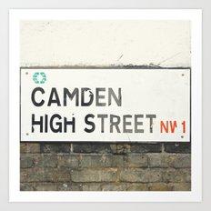 Camden High Street Sign - London Photography Art Print