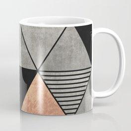 Concrete and Copper Triangles 2 Coffee Mug