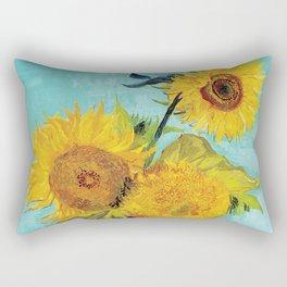 Vincent van Gogh - Three Sunflowers Rectangular Pillow