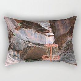 "Disc Golf Basket - Zion - ""The Narrows"" Rectangular Pillow"