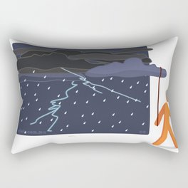 lets see if i can end the storm Rectangular Pillow