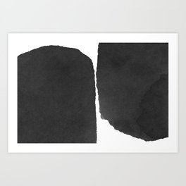 Minimal Black and White Abstract 01 Art Print