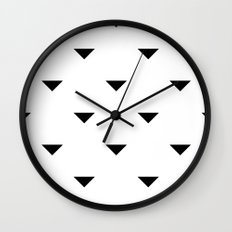 Black and White Geometric Wall Clock