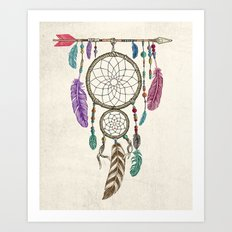 Big Dream Catcher Art Print