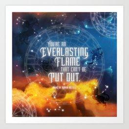 Zodiac - Everlasting Flame Art Print