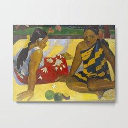 Parau Api / What's news? by Paul Gauguin Metal Print