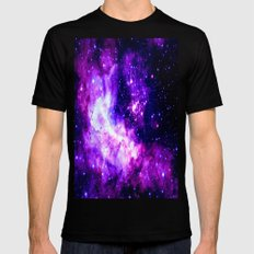 Purple Galaxy : Celestial Fireworks MEDIUM Mens Fitted Tee Black