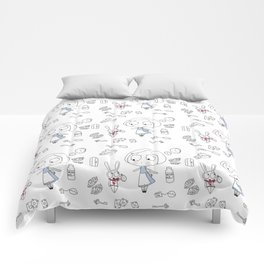 """""""Curiouser and Curiouser"""" Comforters"""