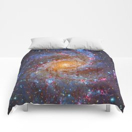 Spiral Galaxy in Outer Space Comforters