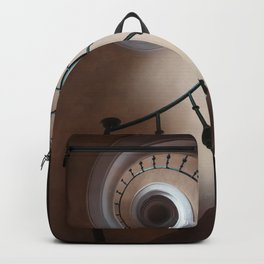 Pretty brown staircase Backpack