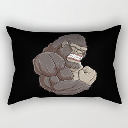 Gorilla At The Gym | Fitness Training Muscles Rectangular Pillow