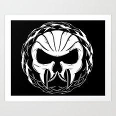 Skull Head Three Art Print