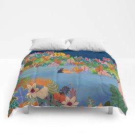 Moonlight Swimming Girl Comforters