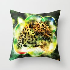 Animal - Grunge Watercolor - Leopard Throw Pillow