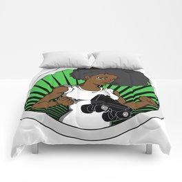 Black Roller Derby Girls Rock! Comforters