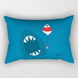 Shark in the sea Rectangular Pillow