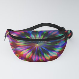 Psychedelic Rainbow Swirl Fanny Pack