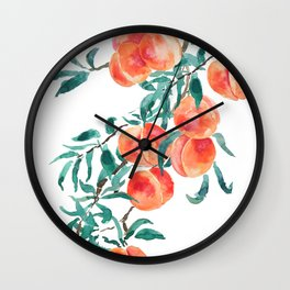 peach watercolor Wall Clock