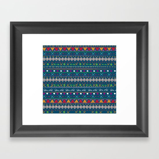 WINTER PATTERN Framed Art Print