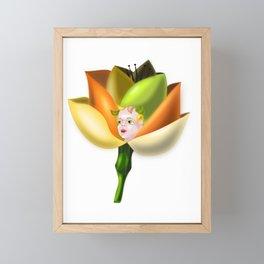 Little Flower Girl Framed Mini Art Print