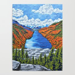 A View of the Blue Mountains of the Adirondacks Poster