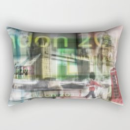 London - Go for Gold - Collage Rectangular Pillow