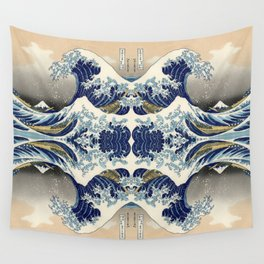 The Great Wave off Kanagawa Symmetry Wall Tapestry