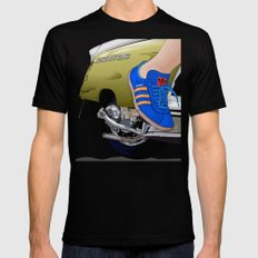 Kick off in style MEDIUM Mens Fitted Tee Black