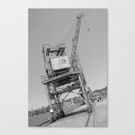 Dockyard crane Canvas Print