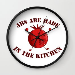 Six-Pack Tomato - Abs are made in the Kitchen Wall Clock