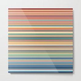 Multicolor horizontal stripes background Metal Print