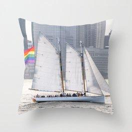 Pride Schooner Throw Pillow