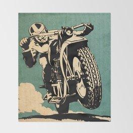 Motorcycle Race Throw Blanket
