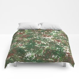 Green & Brown Camo Camouflage Hunting Invisible Military Comforters