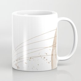 Liquid watercolor marble imitation stone translucent overlay memphis. Pastel gold gray art. Create design for postcard, notebook, fabric, invitation card, web mailing, product packaging Coffee Mug