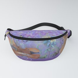 Music of flowers - Ultraviolet composition Fanny Pack