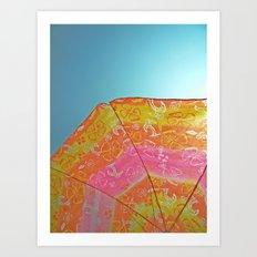 Sunny Umbrella  Art Print