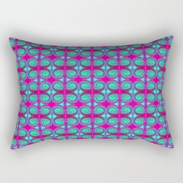 Colorful Pink Turquoise Swirl Pattern Rectangular Pillow
