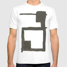 Chair MEDIUM White Mens Fitted Tee